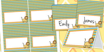 Jungle Themed Birthday Party Place Names - jungle, birthday