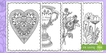 Mother's Day Mindfulness Colouring Pages English/Italian - EAL, mothers, mother's day, mothering sunday, italy, italian, translation, translated, flowers, I l