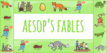 Aesop's Fables Display Border - Aesop's fables, borders, display