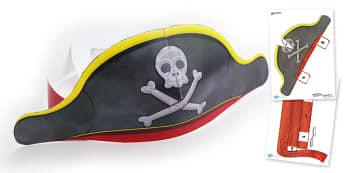 Pirate Hat Paper Craft Template - Pirate, Paper, Hat, Head, Cut, Model, Pirates