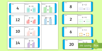 Addition Facts – Doubles KS1 Loop Cards - algebra, doubles, facts, number, patterns,Irish