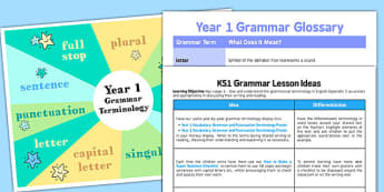 Year 1 Grammar Pack - year 1, grammar pack, grammar, pack, writing