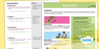 PlanIt - Geography LKS2 - Extreme Earth Planning Overview - plan