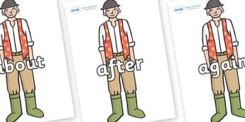 KS1 Keywords on Farmer to Support Teaching on Pig in the Pond - KS1, CLL, Communication language and literacy, Display, Key words, high frequency words, foundation stage literacy, DfES Letters and Sounds, Letters and Sounds, spelling