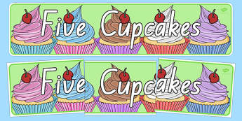 Five Cupcakes Display Banner - nz, new zealand, five cupcakes, display banner, display, banner
