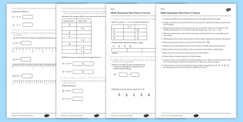 Year 5 Maths Assessment: Fractions Term 2 - year 5, maths, assessment, number, fractions