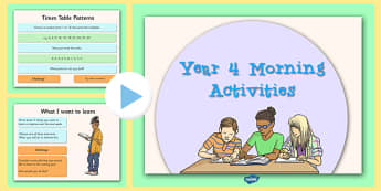 Year 4 Morning Activities - year 4, morning activities, supply teacher, supply, cover, morning, activities