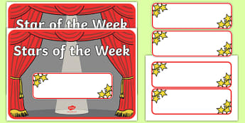 Star of the Week Stage A3 Poster - star of the week, A3 poster, poster, star of the week poster, classroom display, behaviour management, reward, award
