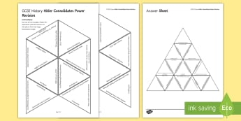 Hitler Consolidates Power History Triangular Dominoes - Nazi, Hindenburg, revision, Goebbels, Von Papen, Night of Long Knives, dictatorship, 15 Minute  Acti, plenary activity