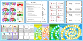 Kids Maths Games - KS2, Maths, multiplication, division, addition, subtraction, loop cards, money problems, algebra, me