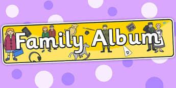 Family Album Themed Banner - header, display, banner