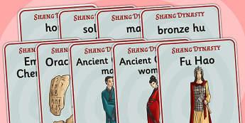 The Shang Dynasty Display Posters - shang dynasty, history