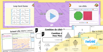 PlanIt - French Year 5 - School Life Lesson 4: Maths Lesson Lesson Pack - french, languages, grammar, shapes, school, subjects, lessons, questions, school life, planit