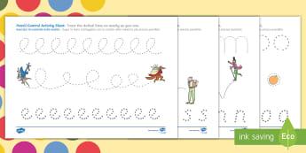 Roald Dahl Themed Pencil Control Activity Sheets English/Italian  - Roald Dahl Themed Pencil Control Worksheets - fine motor skills, motorskills, pencilcontrol, fine mo