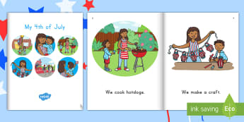 My 4th of July eBook - Independence Day, 4th July, July 4th, American Independence, Emergent reader, parade, fourth of July