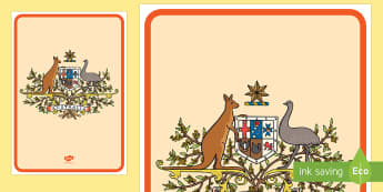 Australian Coat of Arms Display Poster - australia, coat of arms, display, poster