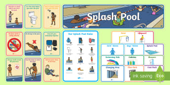 Splash Pool Primary Resource Pack - SEN Resources, Special Educational Needs, Special School, Splash Pool, Swimming, Display Pack, Physi