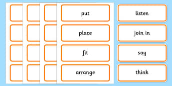 Maths Instructions Word Cards - maths instructions, word cards, maths instructions word cards, maths word cards, word cards, maths
