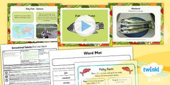 PlanIt D&T KS1 Sensational Salads Lesson 4 Fish the Facts Pack