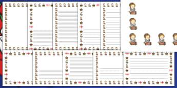 Elizabeth I Page Borders - elizabeth I, elizabeth 1st, page borders, writing frames, lined pages, writing guide, writing template, themed writing frame