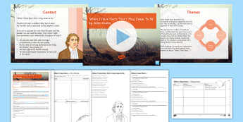GCSE Poetry Lesson Pack to Support Teaching on 'When I have fears...' by John Keats Lesson Pack - GCSE Poetry, OCR, Anthology, Towards a World Unknown, Youth and age, When i have fears that i may ce