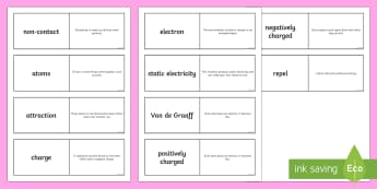 Electricty and Static Electricity Loop Cards