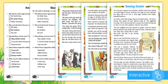 KS1 Saving Easter Differentiated Comprehension Go Respond  Activity Sheets - Children's Books, story, book, Easter, save, saving, Easter Bunny, bunny, bunnies, stories, chick,