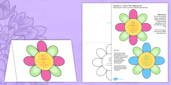 Mother's Day Flap Flower Card Polish Translation - polish, mothers, day, flap, flower, card