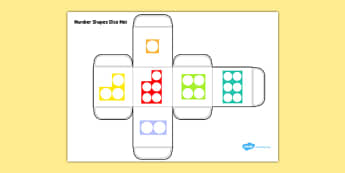 Number Shapes Dice Net - number shapes, dice net, dice, net, number, shapes