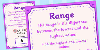 What is the Range in Maths - what is the range in maths, range