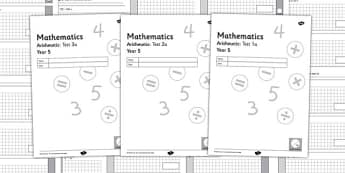 Year 5 Arithmetic Half Tests - year 5, arithmetic, half tests