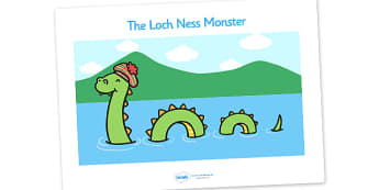 Loch Ness Monster Display Posters - Loch Ness, Loch Ness Monster, Scotland, monster, display, poster, sign, banner, posters, lake, does it exist, Scottish Highlands, Niseag, dinosaur-like, existence