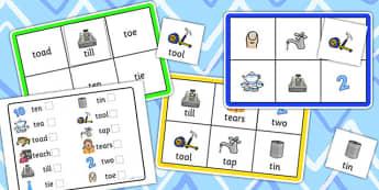 Initial t Sound Bingo and Lotto Game - sound, bingo, lotto, game