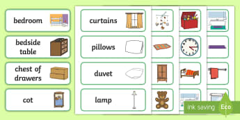 Home Word Cards - word cards, home, key words, flash cards, flashcards, topic cards, house, building, literacy, home objects, furniture