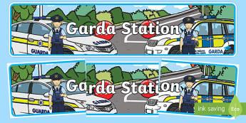 Garda Station Display Banner - garda, police force, ireland, republic of ireland, role play, police station, garda station, detective, role play area, display banner, display, banner