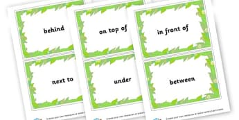 preposition cards - Words and Vocab Prepositions Primary Resources - Literacy Words a