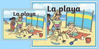 Cartel La playa