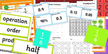 KS3 Maths Fractions Catch Up Resource Pack - ks3, maths, catch up