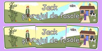 Jack și vrejul de fasole - Banner