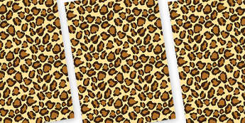 Leopard Themed Pattern A4 Sheets - safari, safari animal themed sheets, leopard pattern sheets, leopard sheets, leopard a4 sheets, animal patterns
