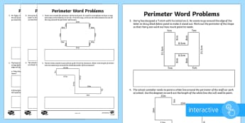 Y4 Perimeter Word Problems Go Respond Activity Sheet - LKS2, calculate, perimeter, perimiter, word problems, y4 maths, year 4 maths, worksheet