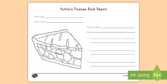 Author's Purpose Book Review - Author's Purpose, Inform, Entertain, persuade, Author