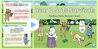 Year 2 SATs Survival: Reading Skills Revision PowerPoint 7 - SATs Survival Materials Year 2, SATs, assessment, 2017, English, SPaG, GPS, grammar, punctuation, sp