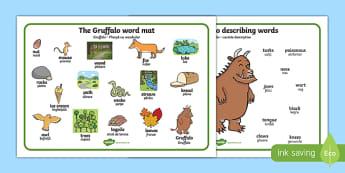 The Gruffalo Word Mat (Images) Romanian Translation-Romanian-translation