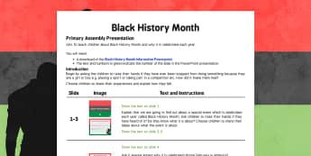 Black History Month Assembly - black history month, assembly