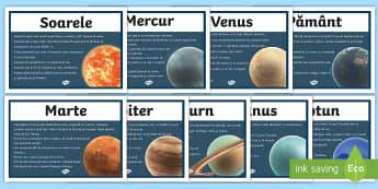Sistemul solar Planșe informative - t2-s-017-solar-system-facts-display-posters  Planșe informative, sistem solar, planete, planetele d