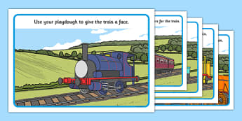 Talking Steam Train Themed Playdough Mats - thomas the tank engine, talking steam train, playdough mats
