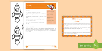 Rocket STEM Activity and Prompt Card Pack - Early Childhood, Space, rocket template, STEM rocket experiment, STEM experiment, space, astronauts,