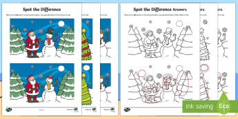 Christmas Spot the Difference Activity Sheet
