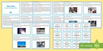 Guided Reading Skills Task Cards Main Idea - reading, skills